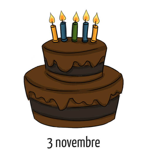 Date d'anniversaire 3 novembre
