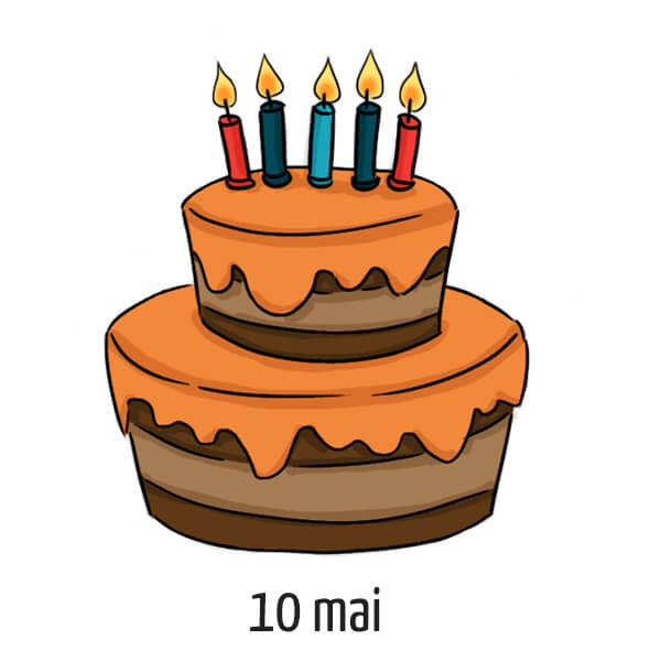 Date d'anniversaire 10 mai
