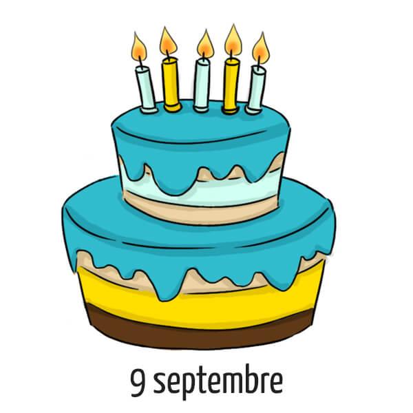 Date d'anniversaire 9 septembre