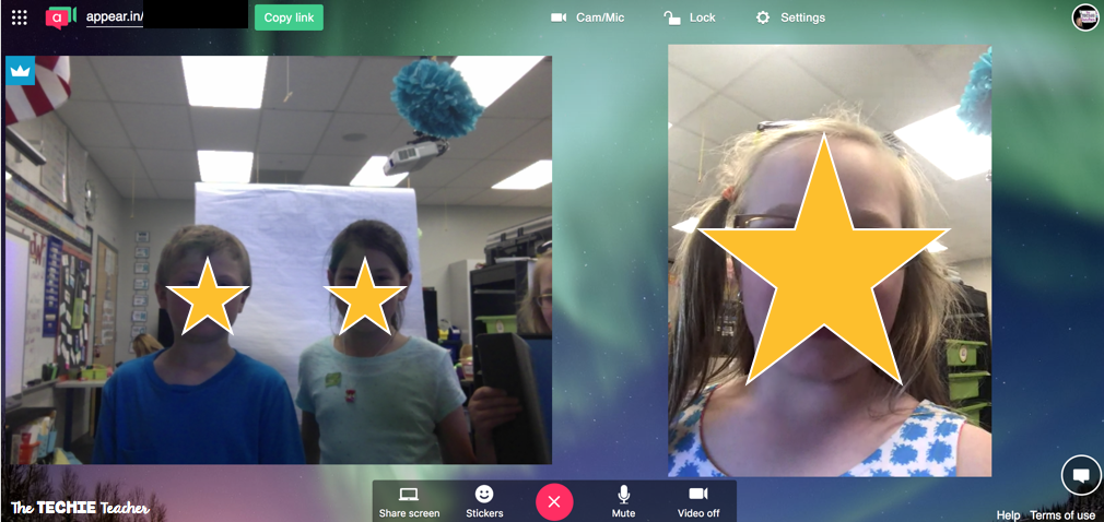 Using Appear.in to videochat with the students safely.