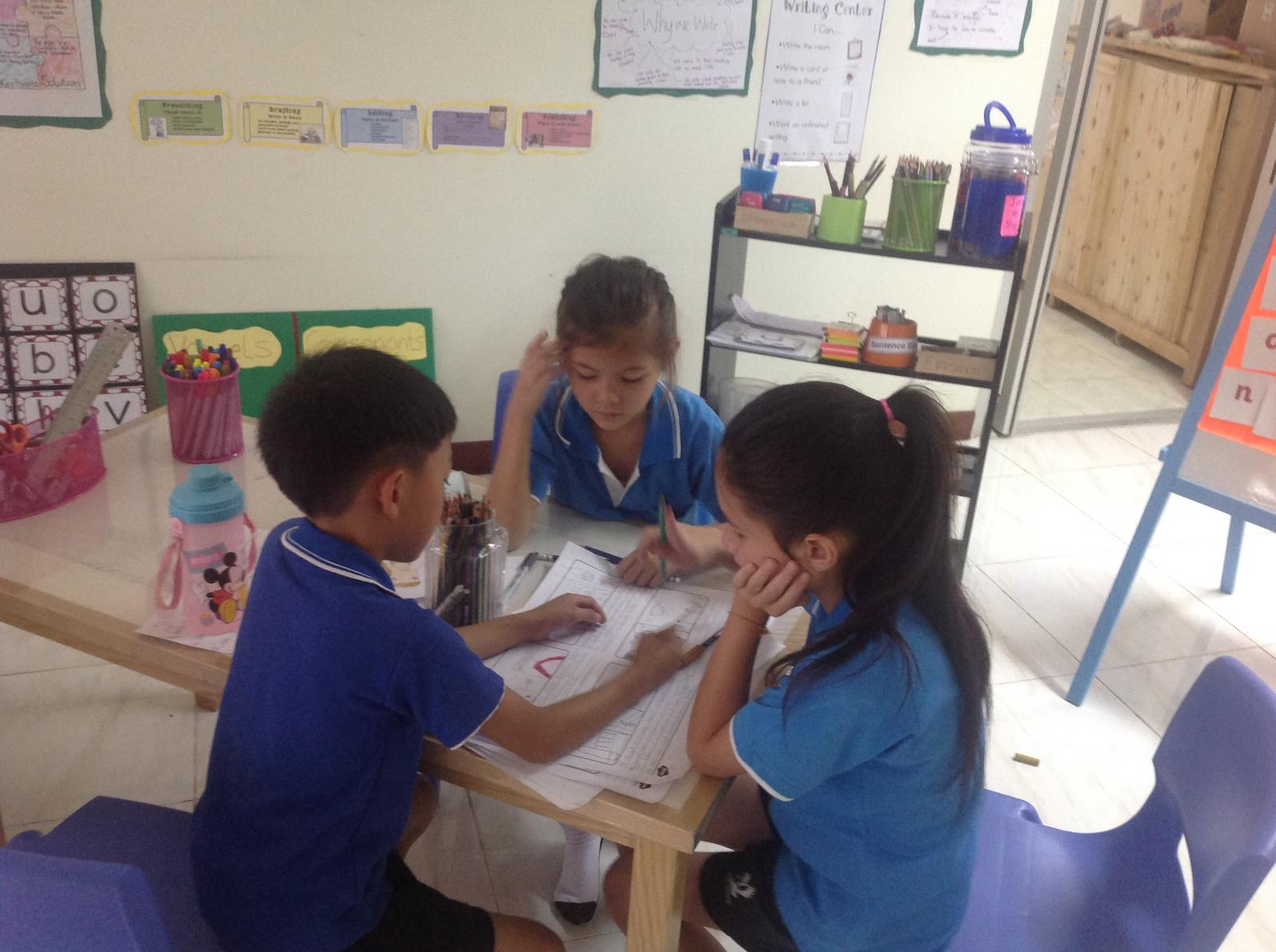 Shared writing is an activity that usually help my students work as a team.