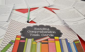 Using task cards to build reading comprehension skills