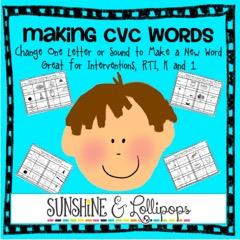 cvc word work 1 letter changes everything beneylu pssst