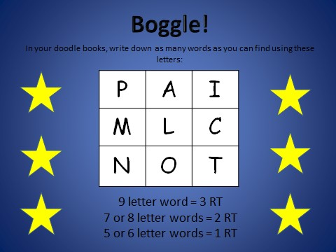 the boggle game helps to boost my students spelling skills