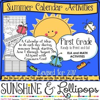 summer calendar activities