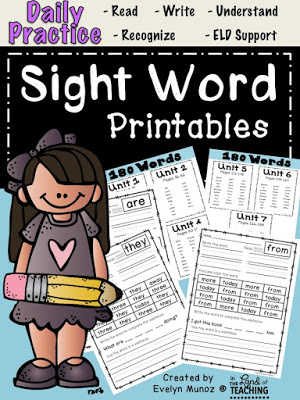 Sight Word Worksheets - Practice Makes Perfect! - Beneylu Pssst