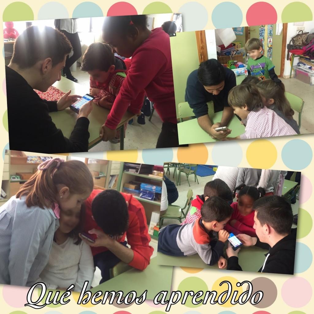Los alumnos mayores vinieron a clase para hacer un experimento grupal. ¡El blog de clase es el mejor sitio para publicar vuestros descubrimientos!