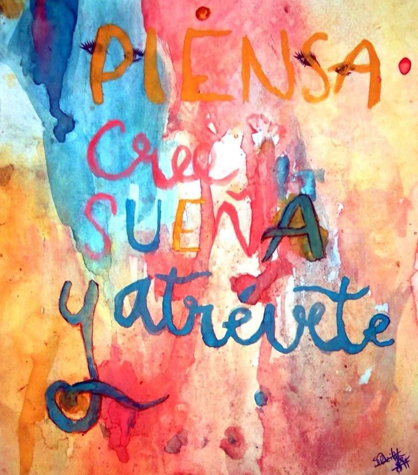 Frase motivacional creada por una alumna del CEIP Mestre Martínez Alonso.