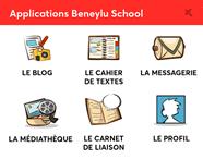 Voir une <br> classe numérique <br><strong>BeneyluSchool</strong> Beneylu School
