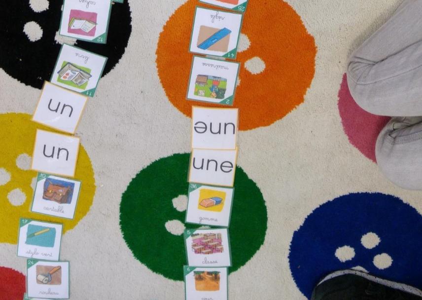 Les élèves apprennent le genre des mots