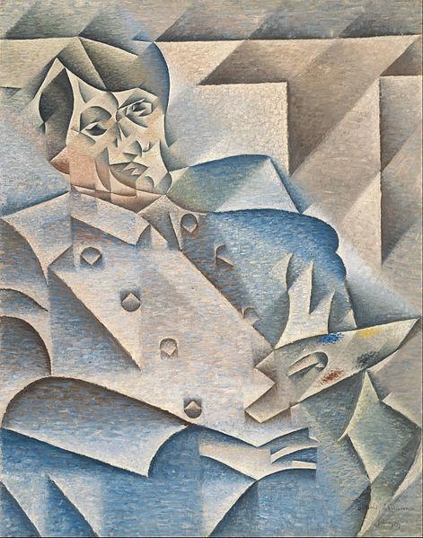 Portrait de Picasso par Juan Gris (1912) dans le style cubiste