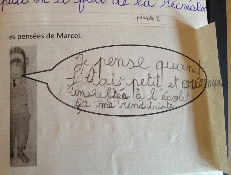 Les élèves volontaires lisent ce qu'ils ont écrit