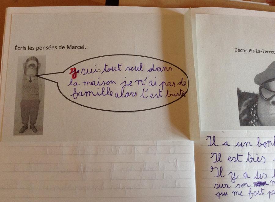 Les élèves ont maintenant très envie de découvrir les raisons de la tristesse de Marcel