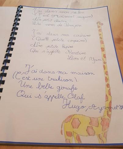 Le recueil de poèmes de mes CM2
