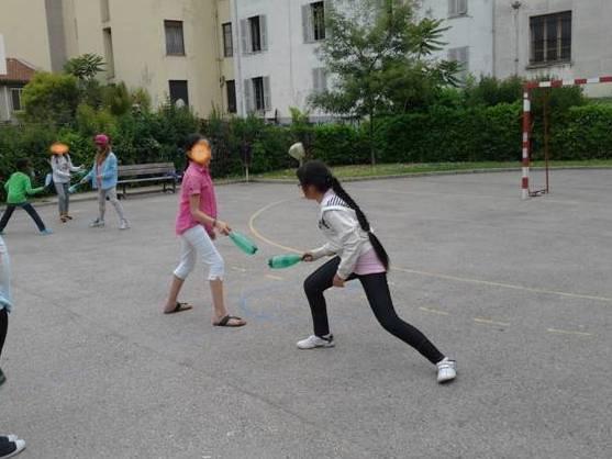 En fin de cycle, on peut organiser un tournois avec une autre classe.