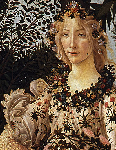 Sandro Botticelli, Le Printemps (détail)