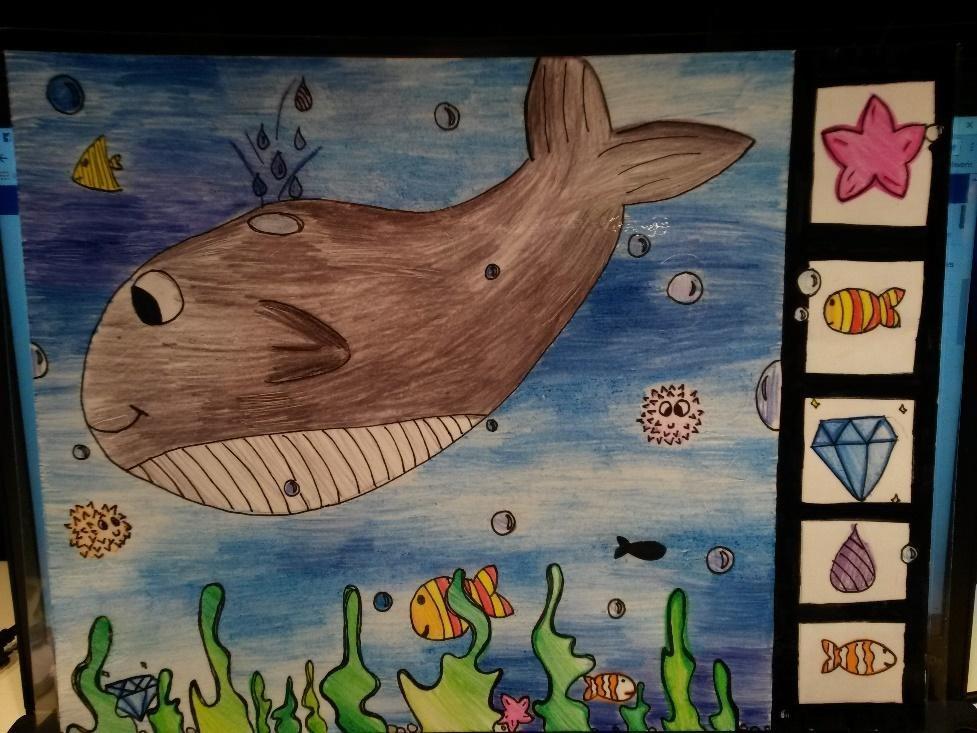 Les élèves de cycle 3 réalisent des dessins Cherche et trouve pour les élèves de GS