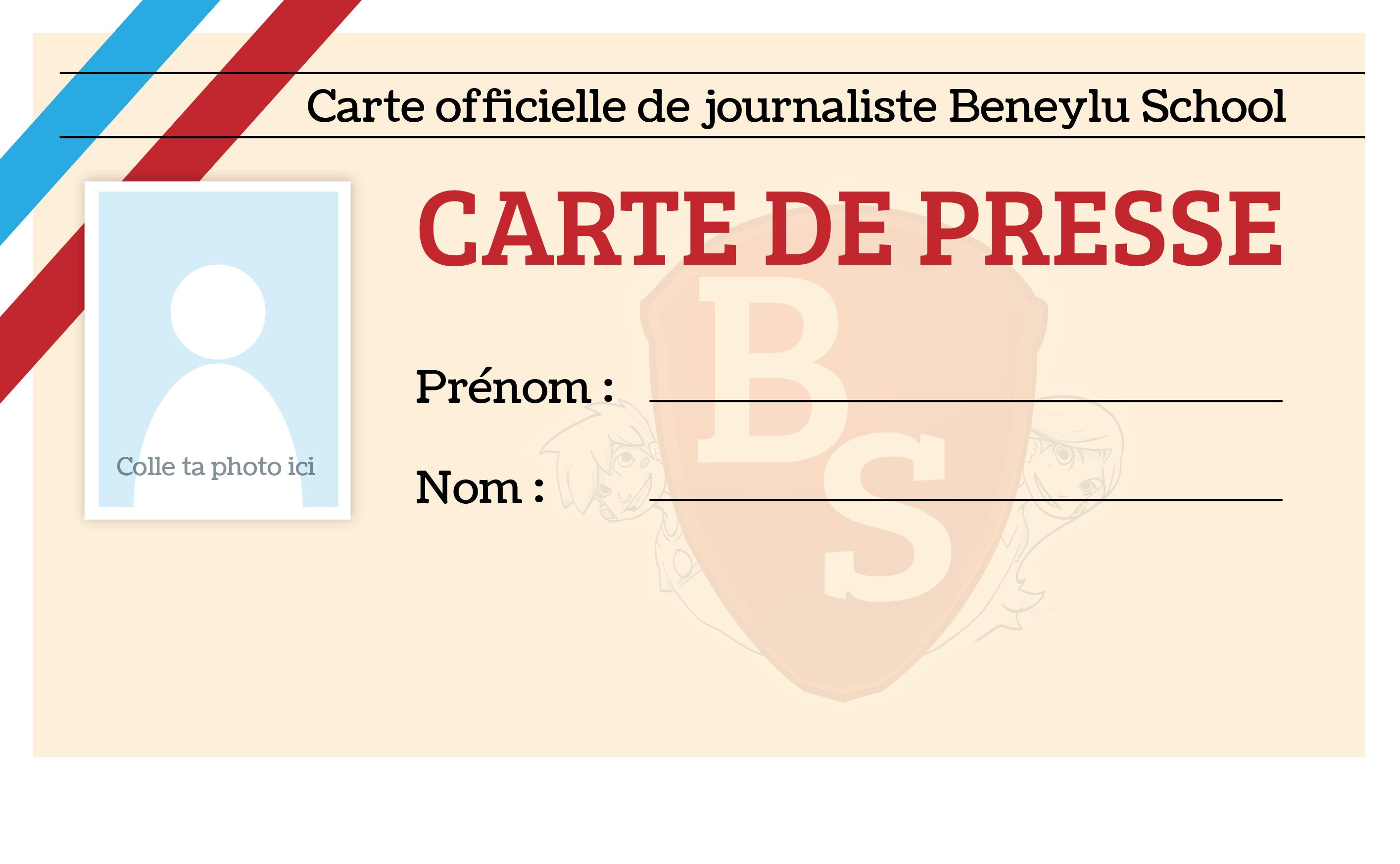 La Carte Beneylu School du journaliste en herbe