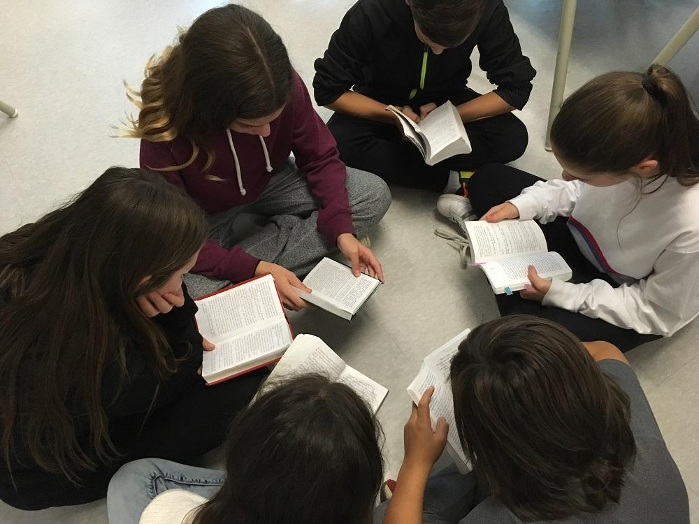 Nous lisons chaque jour 20 minutes, des romans, BD, recettes de cuisine…