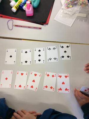 Les élèves nomment les cartes