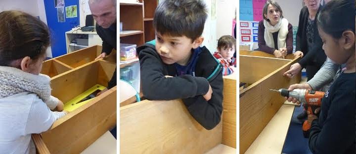 Les élèves réalisent la solution qu'ils ont choisie