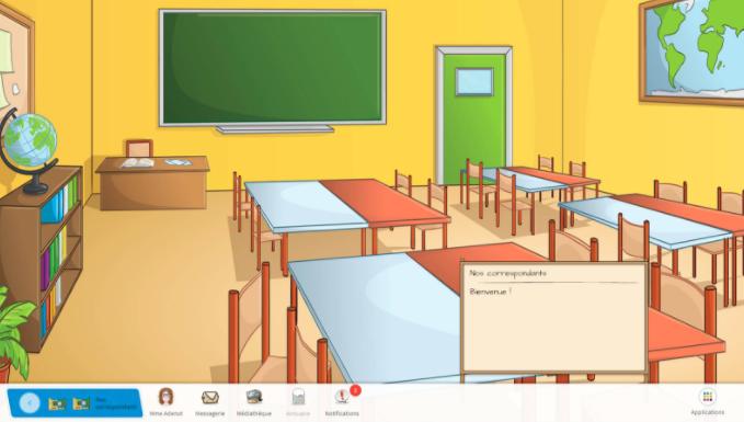 Capture d'écran du partenariat sur Beneylu School.