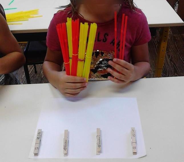 Les élèves apprennent à diviser en manipulant