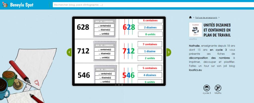 la décomposition des nombres en unités/dizaines/centaines.