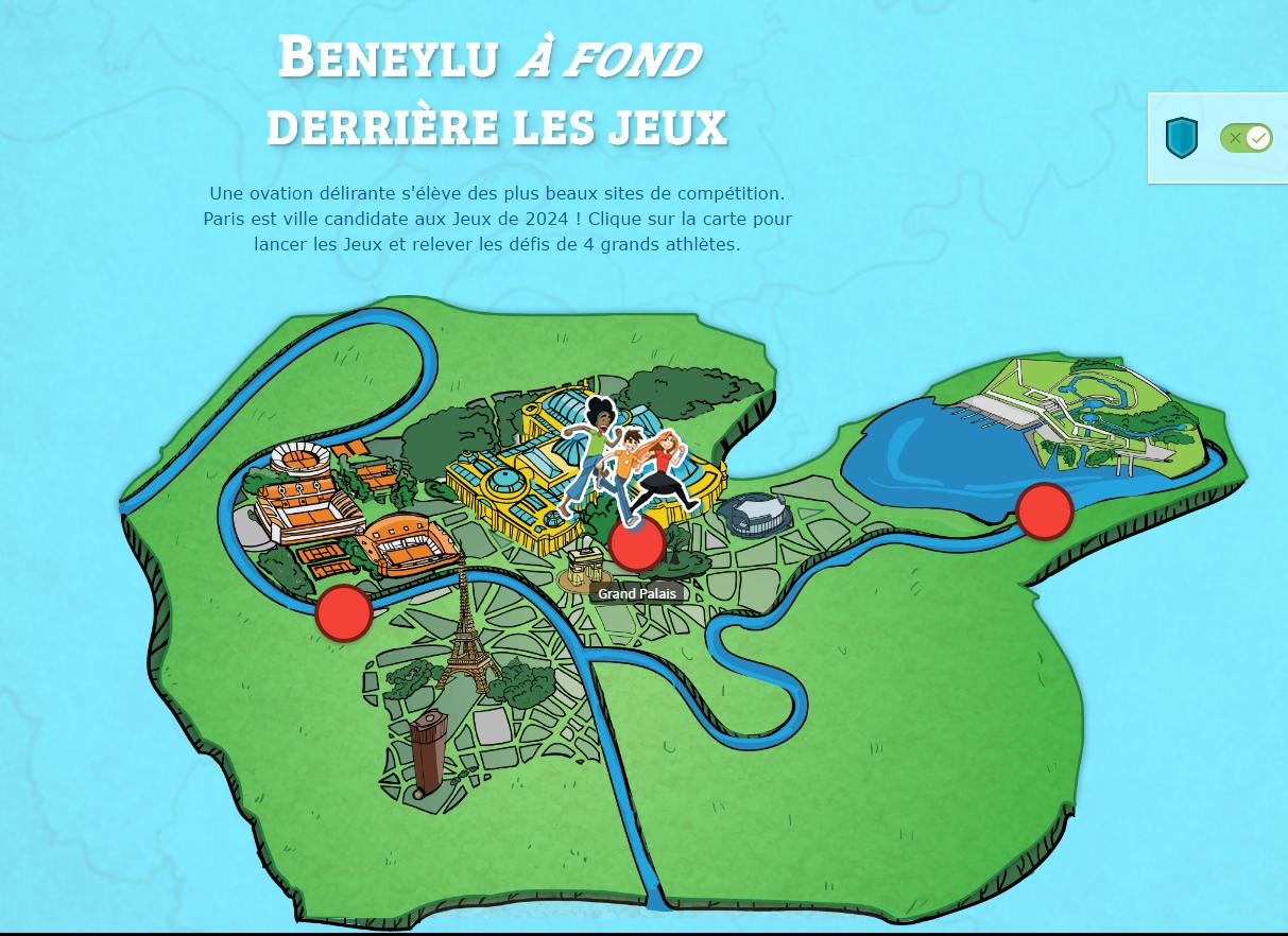 L'application « Beneylu à fond derrière les Jeux » sur Beneylu School