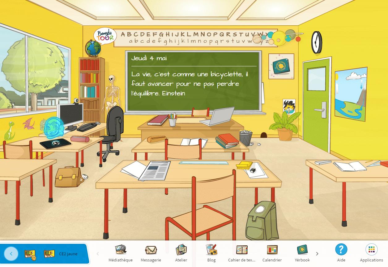 La classe numérique Beneylu School de Michel et ses CE2