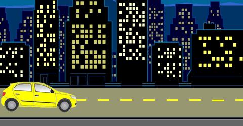 Programmer la voiture pour qu'elle se déplace sur la route et qu'elle reparte en sens inverse lorsqu'elle touche le bord de l'écran.