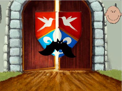 Sortir du château en changeant l'arrière-plan