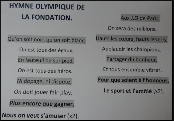 L'hymne de la Fondation