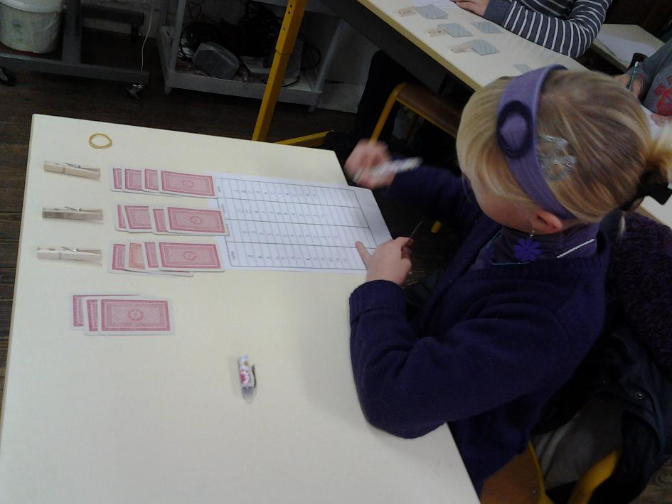 Les élèves apprennent à diviser