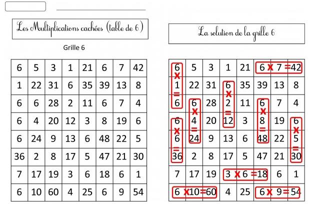 11 jeux pour m moriser les tables de multiplication beneylu pssst - Table de multiplication par 7 ...