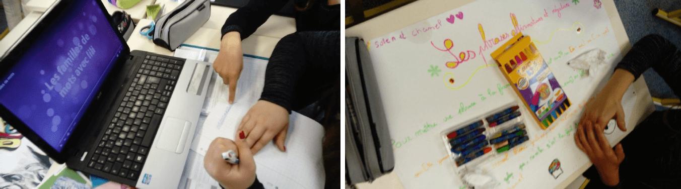 Les élèves créent eux-mêmes les supports pour réviser une notion