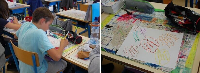 Les élèves apprennent à construire leurs propres cartes mentales