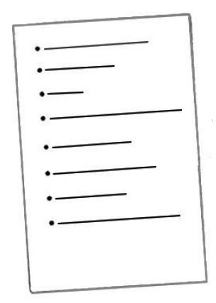Je fais une liste avec tous les points à aborder.