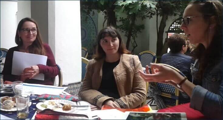 Les chefs de rubrique se rencontrent pour travailler sur Beneylu Pssst.