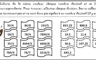 Beneylu -Les exercices sur la division décimale