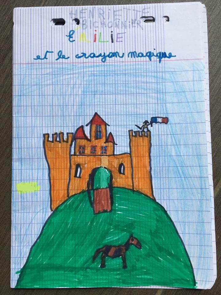 Les élèves dessinent aussi dans leur journal dialogué pour l'illustrer.