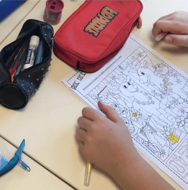"""L'activité """"Oeil de Lynx"""" permet aux élèves d'affûter leur sens de l'observation."""