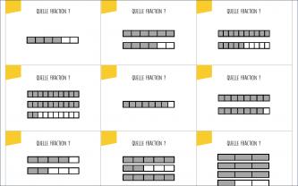 Beneylu -Les cartes jaunes du jeu de l'oie des fractions