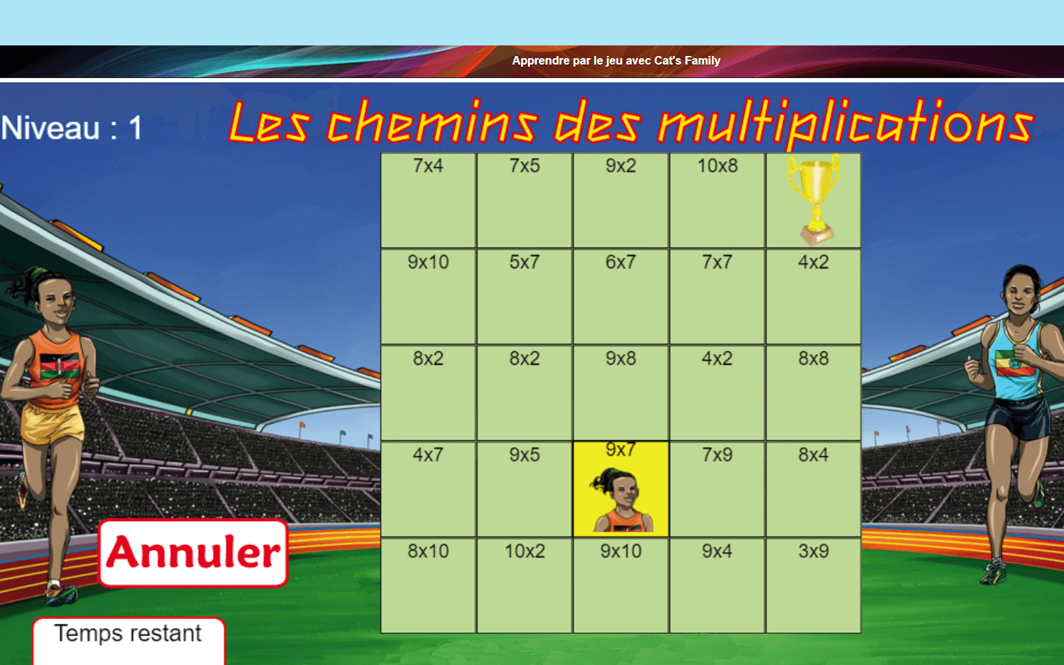 Le chemin des multiplications