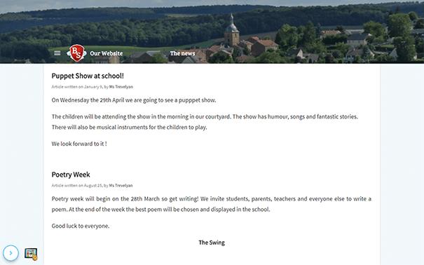 School Website - Beneylu School - UK